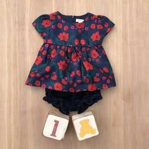 Gymboree Dresses Elegant Party Red Rose Outfit